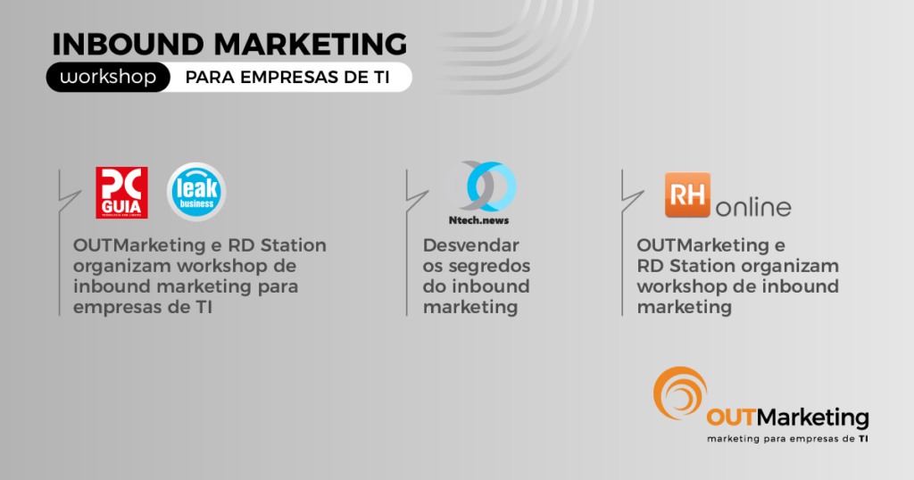 OUTMarketing nos media | Clipping Workshop Inbound Marketing
