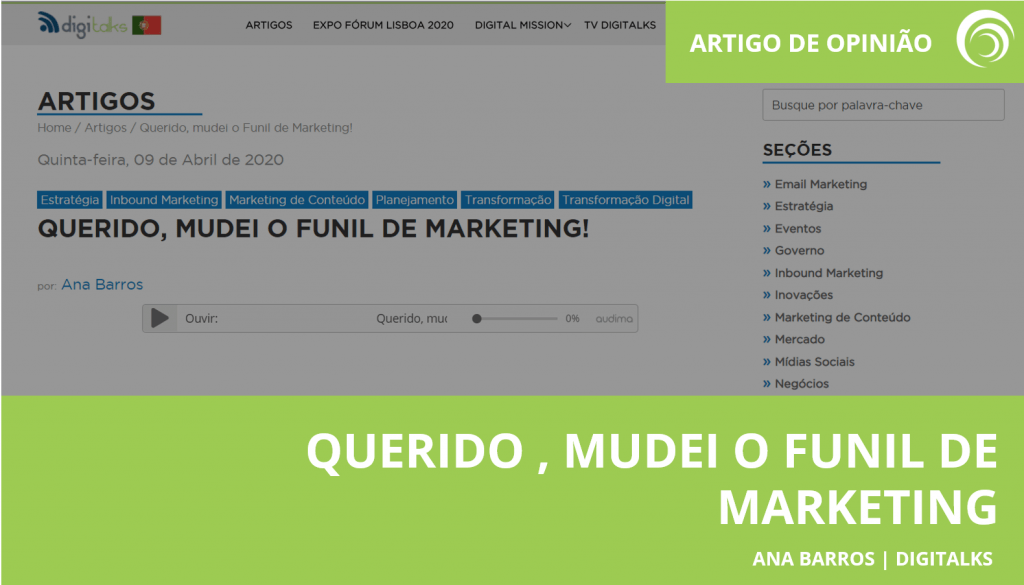 Querido mudei o funil de marketing