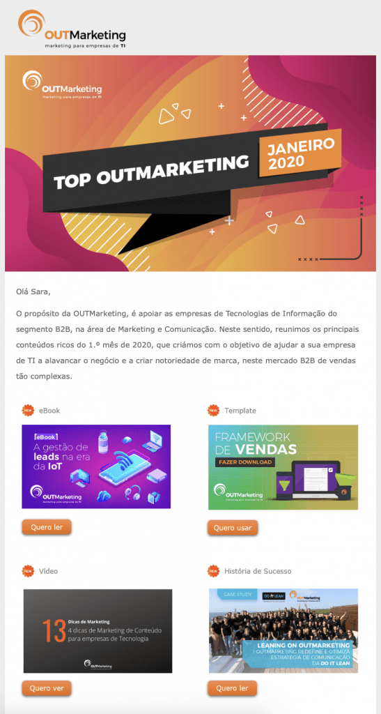 outmarketing newsletter